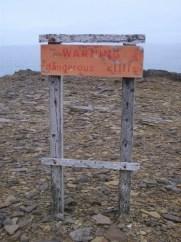 dangerous cliffs sign B Bell