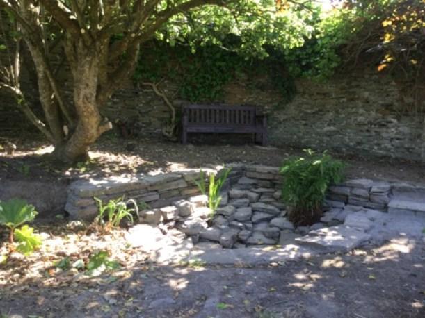 Secret garden pond area