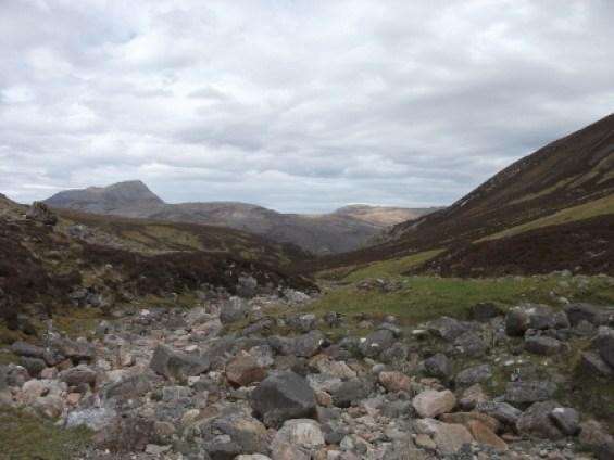 View up the glen Bone Caves Assynt B Bell