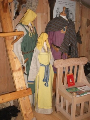 Viking clothes Uig Museum Western Isles Credit: B Bell