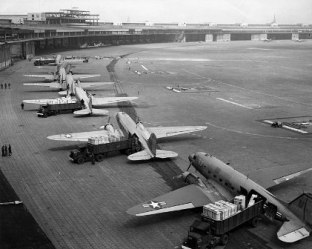 C-47s at Tempelhof Airport Berlin 1948 Photo US Airforce