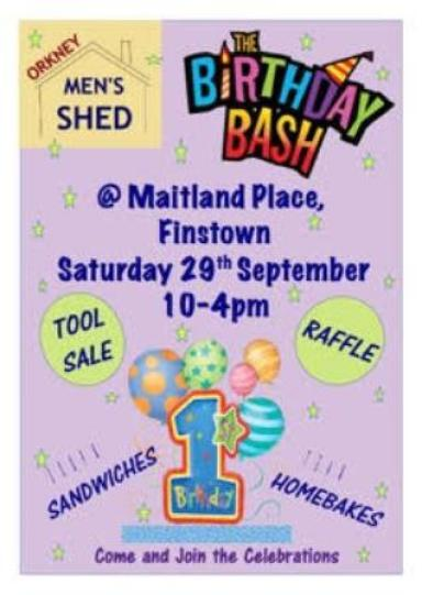 Orkney Mens Shed Birthday Bash