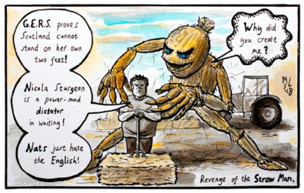 iscot orkney news straw man cartoon martin laird
