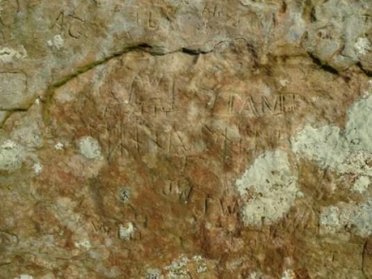 Brodgar graffiti runes M Bell