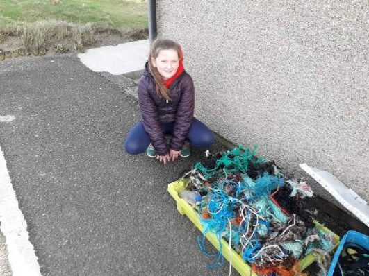 Claire Walker beach clean up