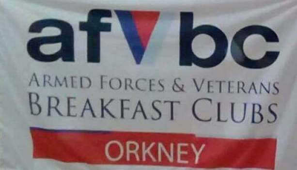 Veterans Breakfast flag