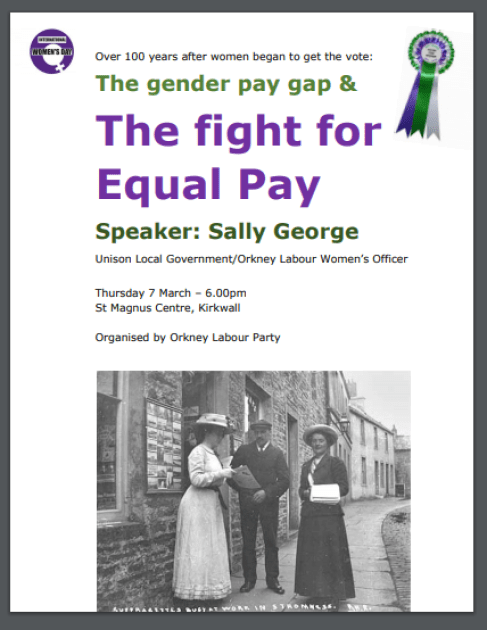 Labour poster on equal pay