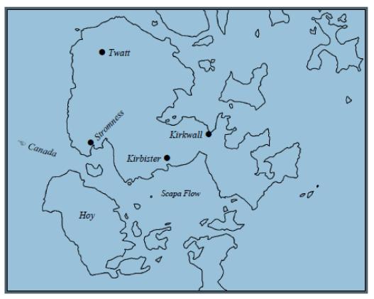 Twatt map