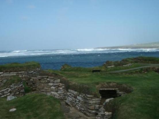 Skara Brae and waves
