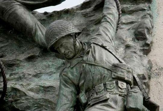 D Day Memorial bronze detail Highsmith Virginia