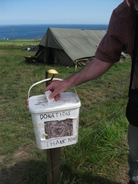 donations bucket The Cairns Bell