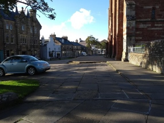 parking area outside St Magnus Cathedral
