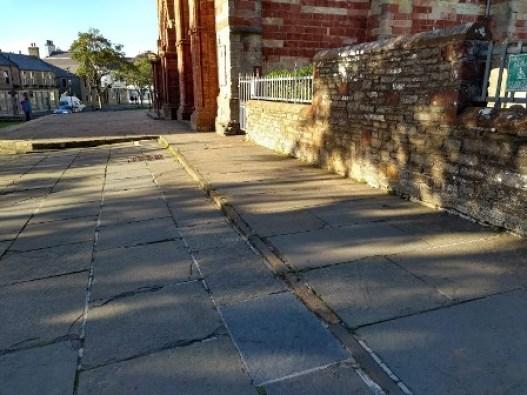 slope at St Magnus Cathedral