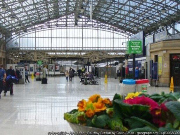 Aberdeen Railway Station concourse by Colin Smith