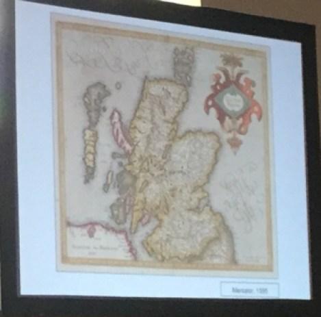 Mercators map of Scotland
