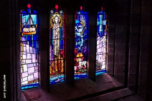 St Magnus Cathedral 1987 stained glass by Crear McCartney
