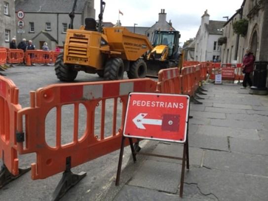 Broad Street Kirkwall pedestrian access
