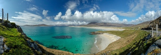 Looking Towards Luskentyre From Seilebost, With The Hills Of North Harris Visible Beyond, Isle Of Harris