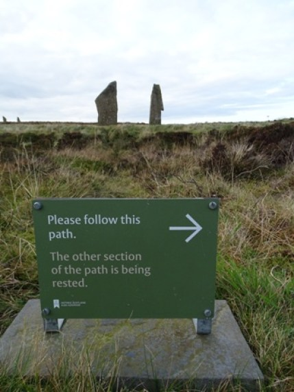 Ring of Brodgar signage Bell