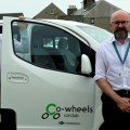 (Left)Tony Archer(Scottish Manager of Co-wheels car club) (right) Robert Lesley(Energy Officer of Orkney Housing Association Ltd) by Kenny Armet