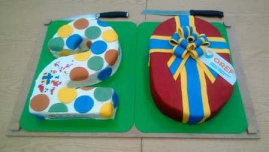 OREF 20 birthday cake Nick