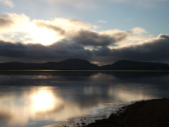 Stenness Loch with Hoy Hills Bell