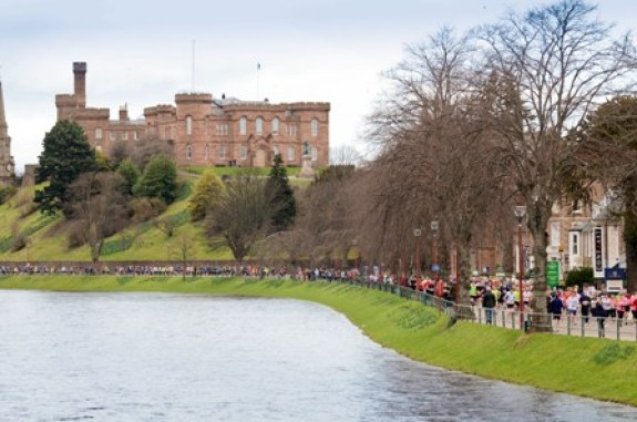 Inverness Half Marathon - scenic by castle by Paul Campbell