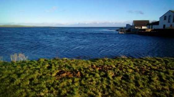 Finstown high tide and flooding Nick M