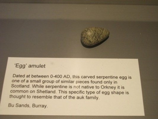 egg amulet Orkney museum