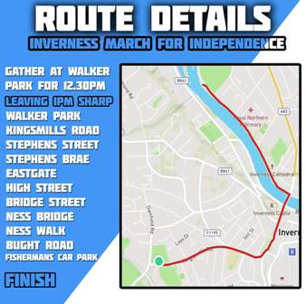 Inverness March route
