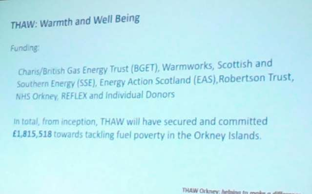 THAW Orkney funding NM