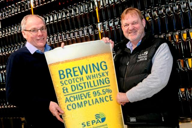 Martin Doogan, Group Engineering Manager at C&C and Terry A'Hearn, SEPA Chief Executive
