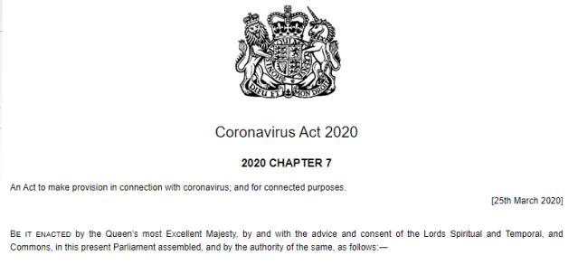 Coronavirus Act