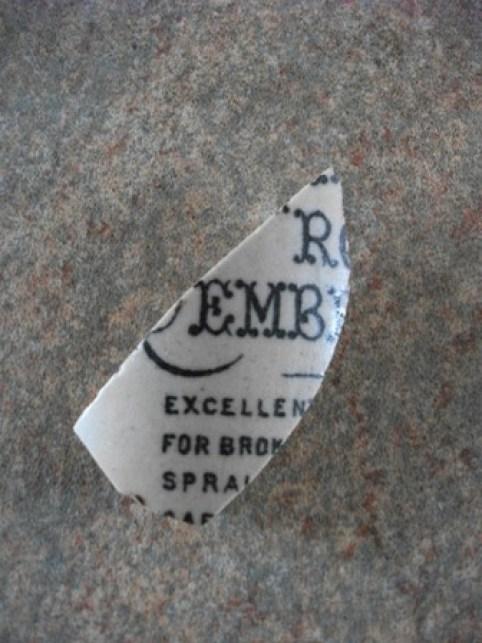 fragment of old medicine jar Bell