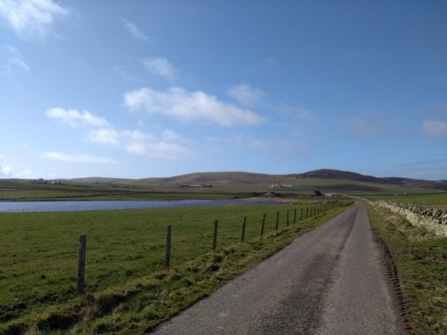 physical distancing by Stenness Loch