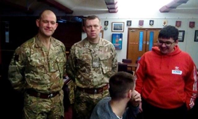 Veterans Breakfast Feb 2020 Capt Richard Otley and WO John Cairns of 10 Troop.