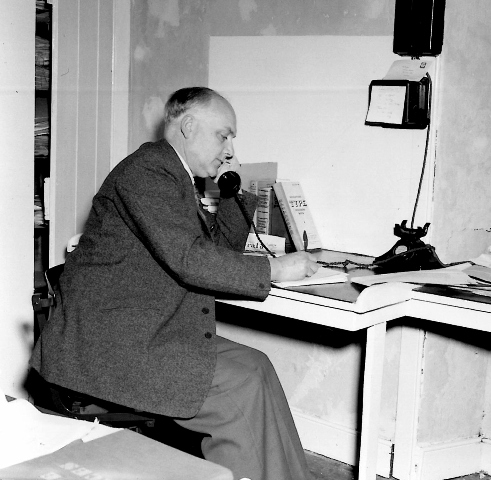 Jack Twatt at work The Orkney Herald