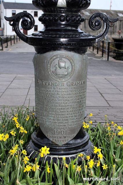 Alexander Graham fountain plaque in Stromness_v1