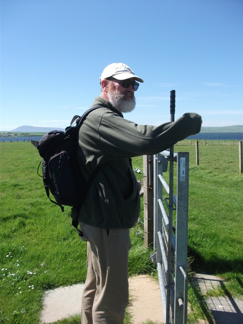 Mike Bell Stones of Stenness gate lockdown credit Bell