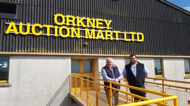 Jim Linklater and Graham Low, Orkney Mart