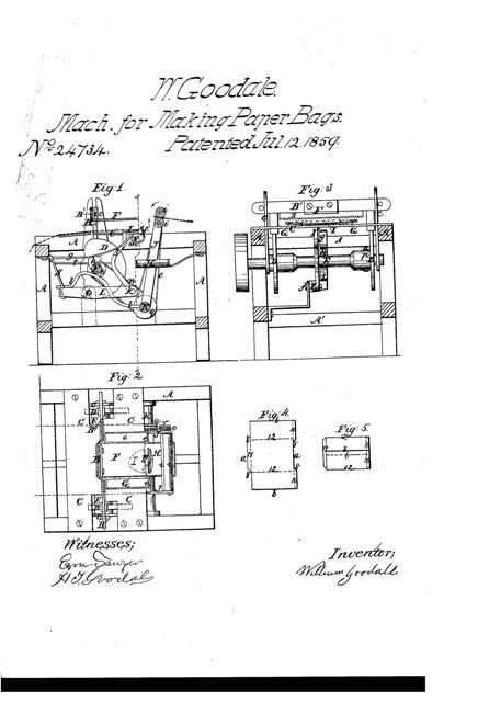 US24734 drawings page paper bag making machine