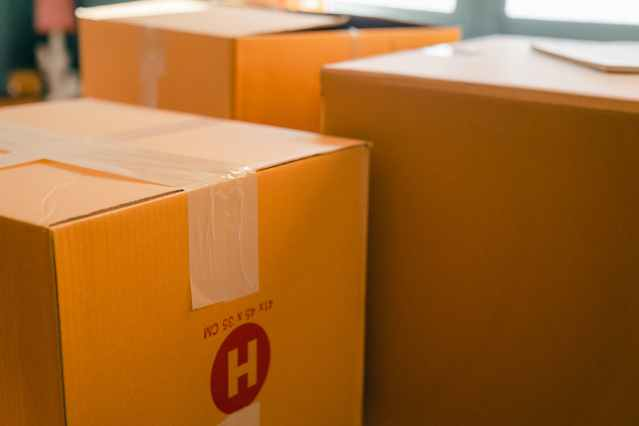 parcels and boxes