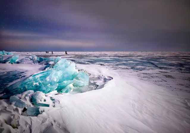 ice blocks on ice