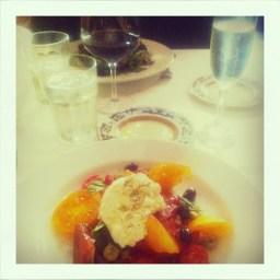 Heirloom Tomato Salad + Champagne | Scala's San Francisco