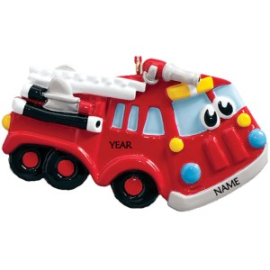 Firetruck Toy Personalised Christmas Ornament
