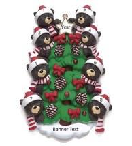 Bear Tree 8 Personalised Christmas Ornament