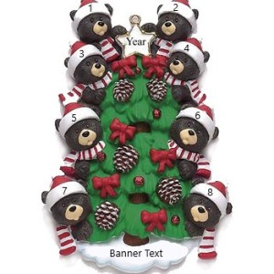 Bear Tree 8 Personalised Christmas Ornament