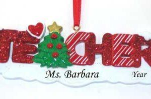 Teacher Glitter Ornament