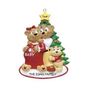 Expecting Families Personalised Christmas Ornament