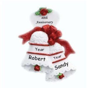 Wedding Bells Personalised Christmas Ornament